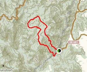 Broad Hollow Trail Loop Map