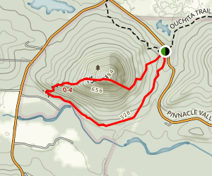 Pinnacle Base Loop to East Summit to West Summit Map