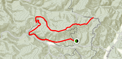 Bear Pen Run Trail to Buck and Doe Trail Map