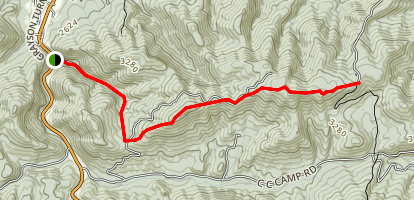 Henley Hollow to Horse Heaven Trail Map