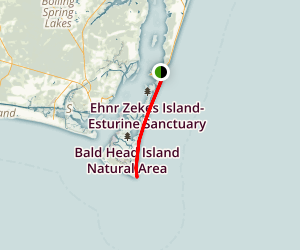 Fort Fisher to Bald Head Island Beach Walk Map