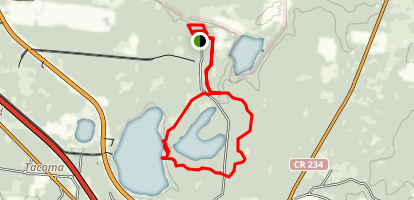 Jacksons Gap, Lake Trail Loop Map