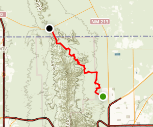 Lazy Cow to Anthony Gap Trail Map