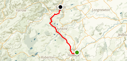 Borders Abbey Way: Hawick to Selkirk Map
