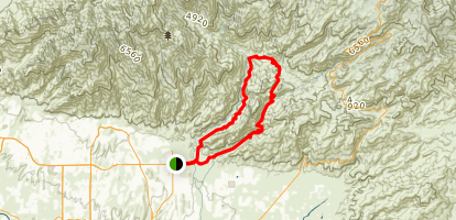 Seven Falls Trail to Phoneline Trail Map