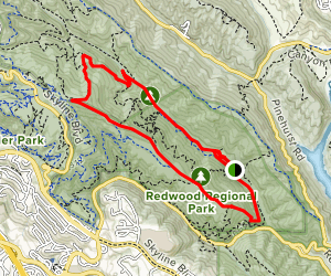 Stream Trail to West Ridge Trail Loop Map