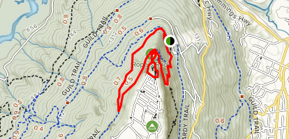 Point Park and Craven's House Loop Map