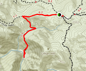 Three Sisters Waterfalls Trail Map