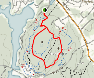 Moore and Cemetery Loop Trail Map