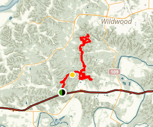 Green Rock Trail Map