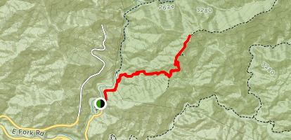 Heaton Flat Trail to Bonita Peak Map