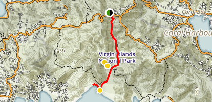 Reef Bay Trail Map