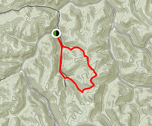 Mossy Rock, Snipe and Alligator Rock Trails Map