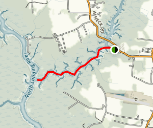West Neck Creek Marina to North Landing River Map