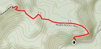 Raven Rocks Trail Map