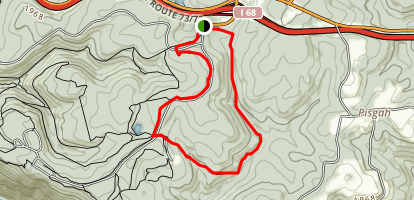 Scott's Run Loop Trail Map