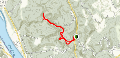 Laurel to White Oak Trail Loop Map
