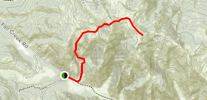 Munger Mountain Trail Map
