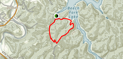 Beaver Pond Twin Coves Loop Map
