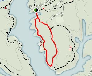 Bayberry Nature Trail: Short Loop Map