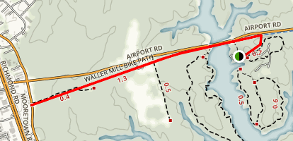 Waller Mill Bike Path Map
