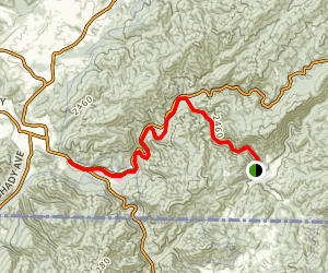 Whitetop Laurel Creek Map