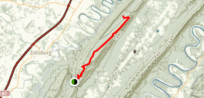 Green Mountain Trail (Red) Map