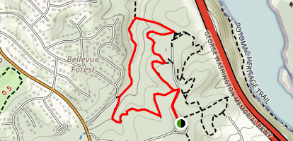 Potomac Overlook Trail Loop Map