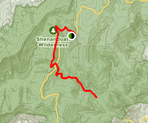 Thorton Hollow via Appalachian Trail Map