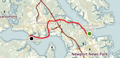 Colonial Parkway Map