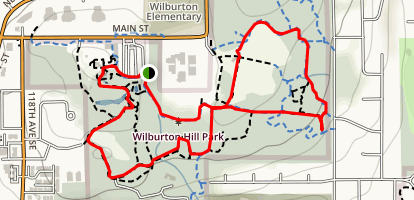 Bellevue Botanical Park and Wilburton Hill Park Map
