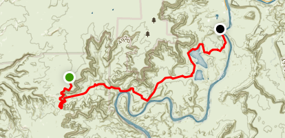 Shafer Trail and Potash Road Map