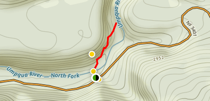 Umpqua Hot Springs Trail Map