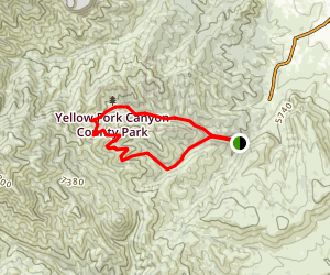 Yellow Fork Canyon Trail Map