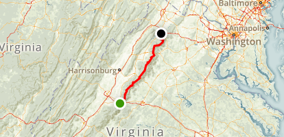 Skyline Drive: Waynesboro to Front Royal Map
