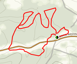 Cathedral to Giant Hemlock Trail Loop Map