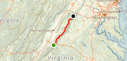 Appalachian Trail: Rockfish Gap to Chester Gap Map
