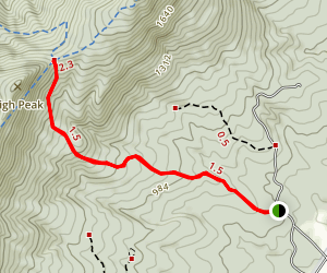 Shawl Gap Trail Map