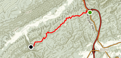 Appalachian Trail: Kimberling Creek to Laurel Creek Map