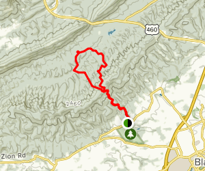 Gateway Trail to Jacob's Ladder to Snakeroot Loop Trail Map