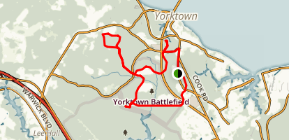 Yorktown Battlefield Historic Encampment Tour Map