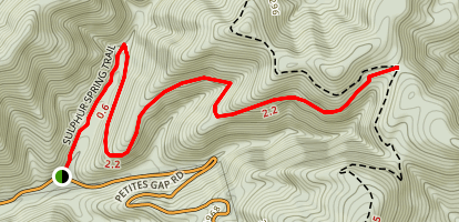Sulphur Spring Trail Map