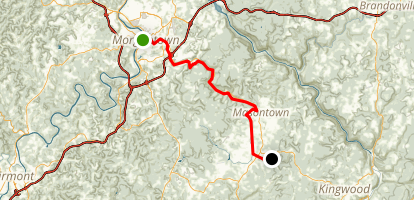 Decker's Creek Trail Map