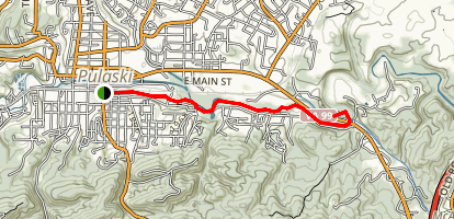 Dora Junction Trail to New River Trail Map