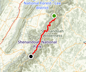 Skyline Drive: Thornton Gap to Swift Run Gap Map