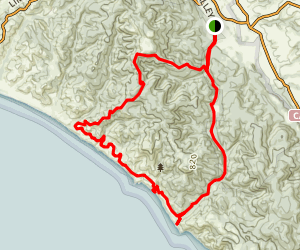 Valley, Woodward, Coast, Sky, Meadow Loop Trail Map