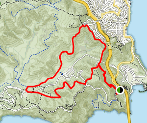 Rodeo Valley Loop Via Coastal and SCA Trails Map