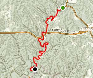 Bonds Creek: Pike to Cornwallis Map