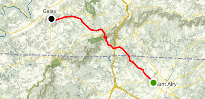Pipers Gap Motorcycle Ride Map
