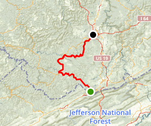 Coal Heritage Trail: Bluefield to Beckley Map